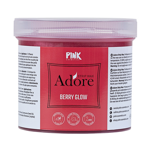 Berry Glow Strip Wax with Jojoba Oil (450 g)