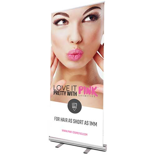 Roll - up Banner PINK LOVE IT (English)