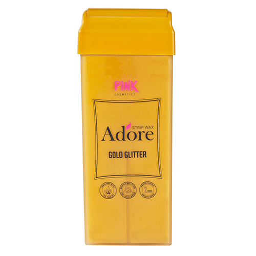 Adore Strip Wax Gold Glitter Roll-on with Tea Tree Oil 100 ml