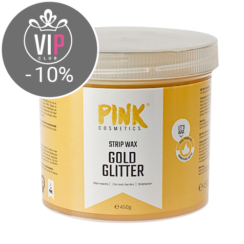 Gold Glitter Strip Wax mit Teebaumöl (450 g)